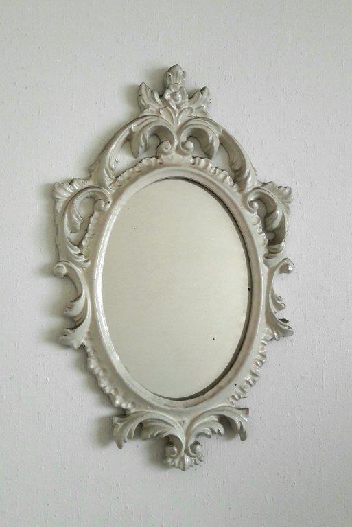 Balts spogulis, antīks (vidējs) 45 x 28 cm
