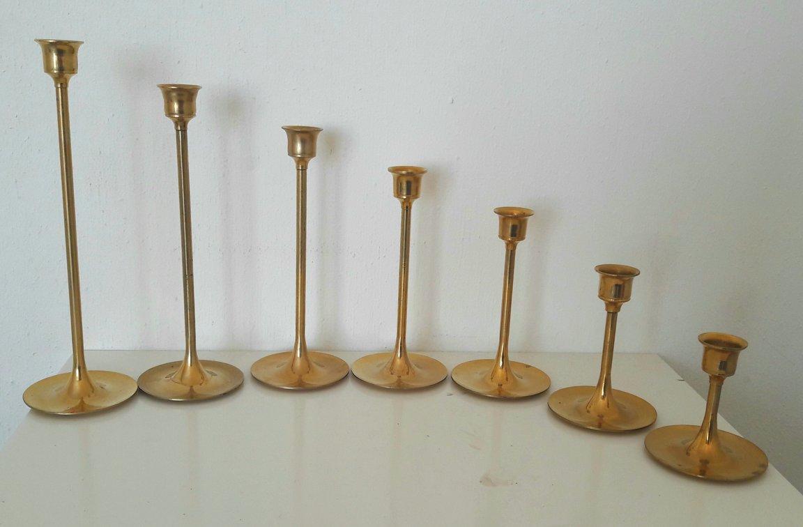 Svečturu komplekts 7gab. dažādi izmēri 7-23cm