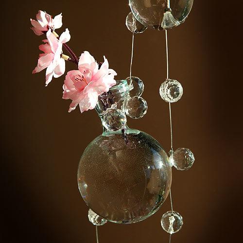 Dekoratīva, karināma  stikla vāze 8cm