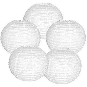 Ķīniešu laterna 30-50 cm, balta