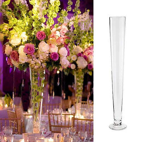 Stikla vāze cilindra formā 70cm