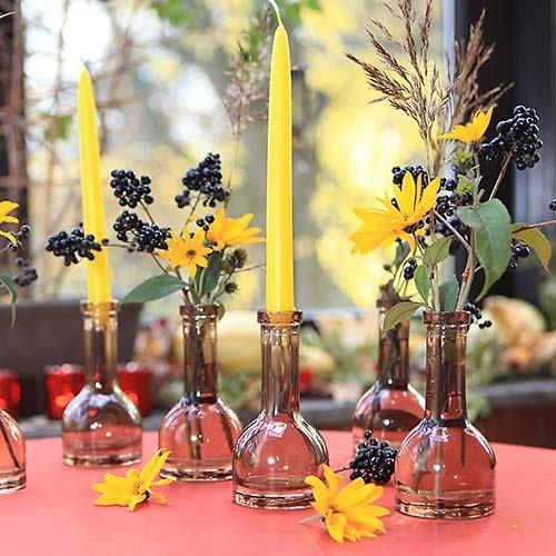Stikla svečturis pudeles formā 15cm