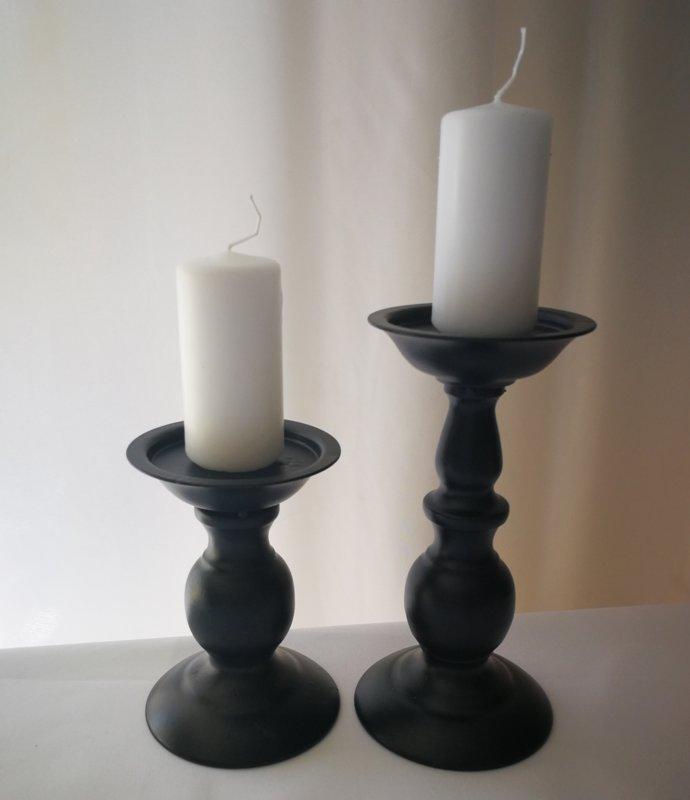 Svečturi 2 gab, melni