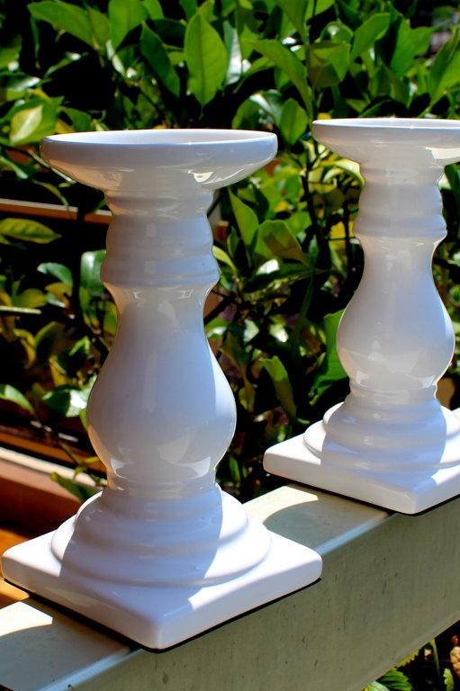 Porcelāna svečturi 17 cm (2 gab.)