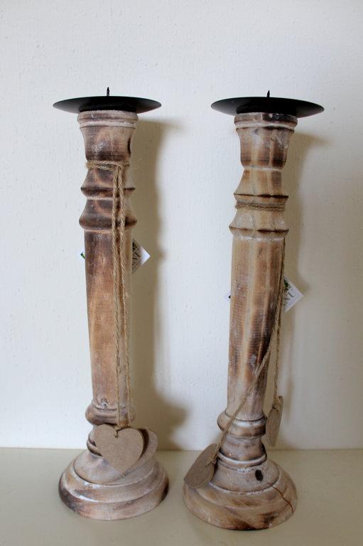 Koka svečturi 34 cm (2 gab.)