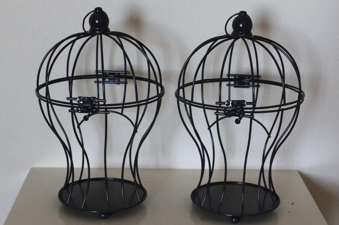 Dekoratīvs metāla putnu būris 29 cm