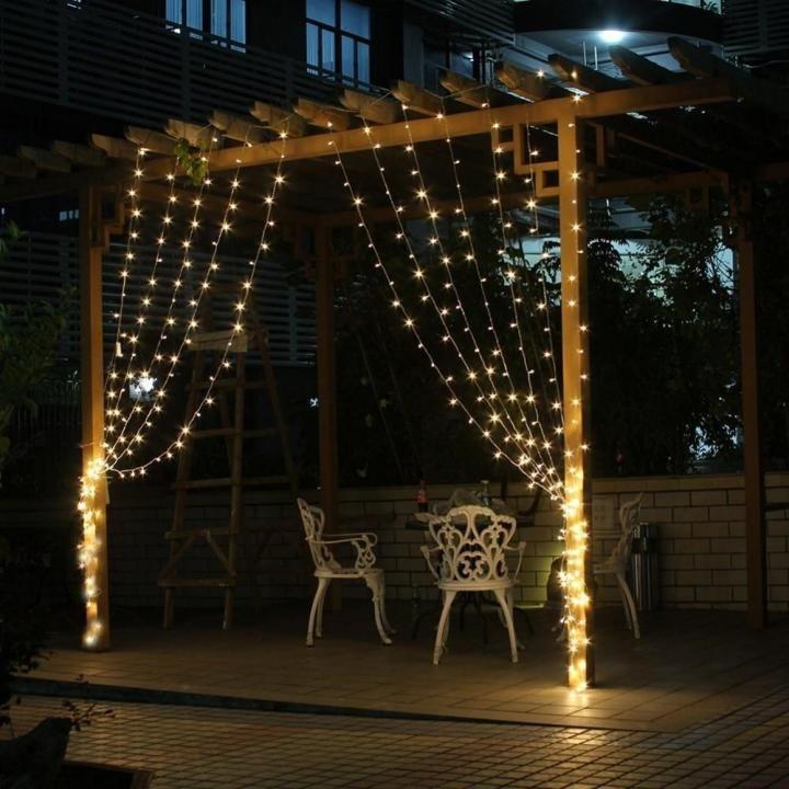 LED lampiņu aizkars 3x3 m, 300 LED