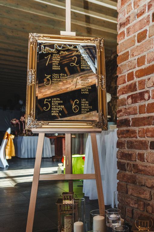 Spogulis, zelta 60x80 cm
