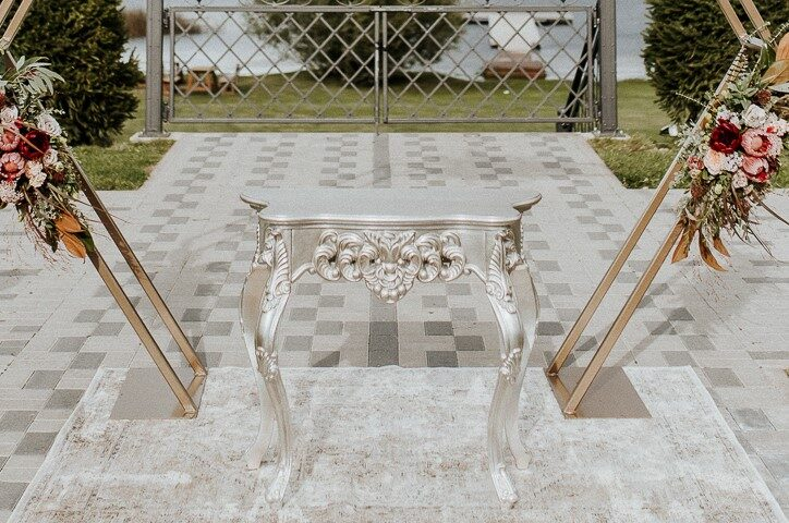 Konsoles galdiņš, gaiša bronza/sudrabs