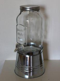Stikla trauks ar krānu 8l